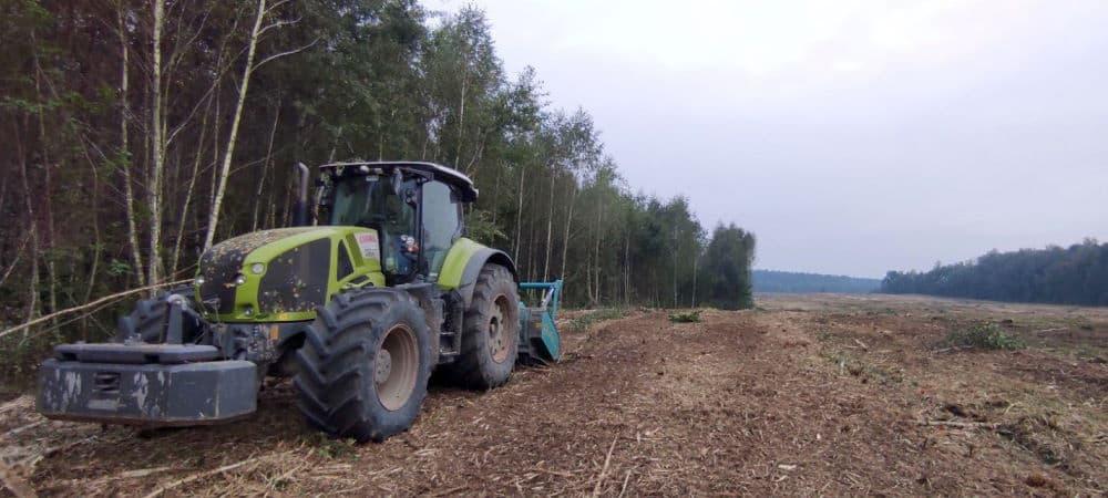 Корчування полів, садів та посадок мульчером